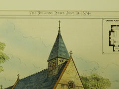 Church of St. Saviour, Mortomley, Yorkshire, UK, 1874, Original Plan. James Brooks.