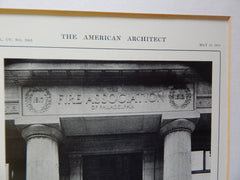 Main Entrance, Fire Association Building, Philadelphia, PA, 1914. Edgar V. Seeler.