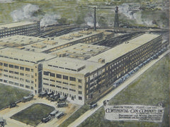 Manufacturing Plant, Continental Can Company, Clearing, IL, 1918, Original Plan. Davidson & Weiss.