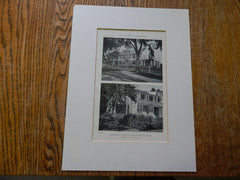House of E.J. Feeley, Exterior, North Scituate, MA, 1918, Lithograph. Charles R. Greco.