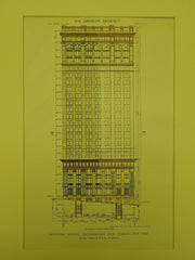 Downtown Building for the Knickerbocker Trust, New York NY, 1911. McKim, Mead & White