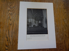 Trinity Lutheran Church, Fort Wayne, IN, 1930, Lithograph. Bertram, Grosvenor & Goodhue.