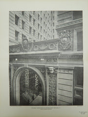 Exchange, Place Entrance to Exchange Court, New York, New York, 1901, Lithograph. Clinton & Russell.