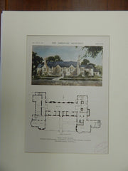 Wesley Foundation Social Center, University of IL, Urbana, IL, 1921, Orig. Plan. Holabird & Roche