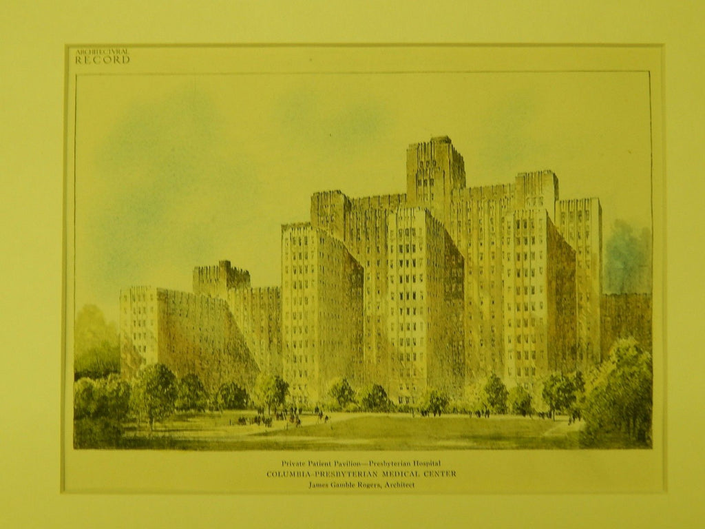 Columbia-Presbyterian Medical Center, New York, NY, 1925, Original Plan. James Gamble Rogers.