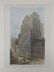 National Association Building, New York, NY, 1919, Original Plan. Starrett & Van Vleck.
