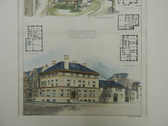 Residence&Stable for Mr. J.A. Lynch, Chicago, IL, 1894, Original Plan.  Jenney and Mundie.