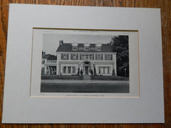 House of Dr. G.A. Stickney,Beverly, MA, 1918, Lithograph. Alden.