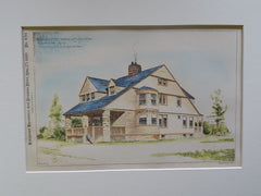 House for Carroll E. Bowen, Rochester, NY, 1889, Original Plan. Thomas Nolan.