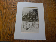 House of A.H.Tasker, Portland, OR, Lithograph,1924. DeYoung & Roald.