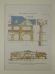Headquarters, Palisade Interstate Park, Bear Mountain, NY, 1915, Original Plan. Tooker & Marsh.