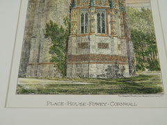 Place House, Fowey, Cornwall, 1880, Hand-painted Rendition