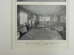 Living & Dining Rooms, House of Mrs. Irving T. Snyder, Denver, CO, 1914. J.B. Benedict.