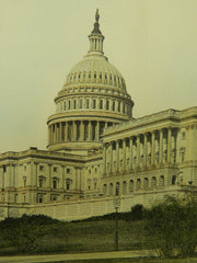 The United States Capitol,Southwest View, Washington, D.C. 1904. Original Plan.