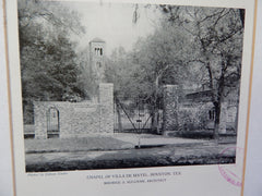 Chapel of Villa De Matel, #2, Houston,TX, 1928, Lithograph. Sullivan.