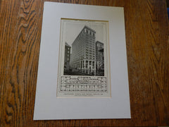 Northwestern National Bank Building, Portland,Oregon, Lithograph,1914. Doyle& Patterson.