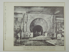 Fireplace for Dr. R. C. Greenleaf, Lenox, MA, 1885, Photogravure.T. H. Bartlett.