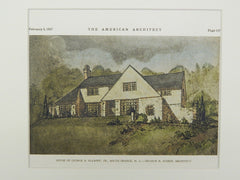 House of George A. Allsopp, Jr., South Orange, NJ, 1927, Original Plan. Arthur N. Starin.