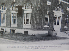 Building of East Hartford Trust Co.,East Hartford, CT, 1918,Lithograph. Walter P. Crabtree.