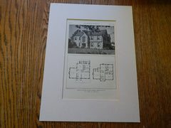 House of Major Stuart Cramer, Charlotte, N.C.,1929, Lithograph. Boyer.