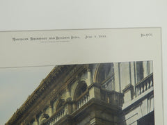 Providence Public Library, Providence, R.I. 1900. Original Plan.  Stone, Carpenter & Willson.