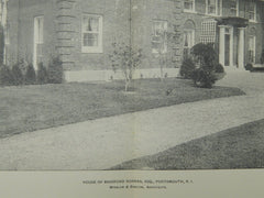 House of Bradford Norman, Esq., Portsmouth, RI, 1902, Lithograph. Winslow & Bigelow.