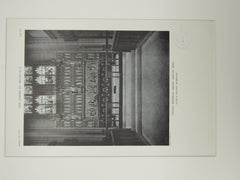 Altar, Lindsey Memorial Chapel, Boston, MA, 1929, Lithograph. Allen & Collens.