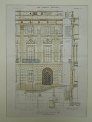 Elevation for the Municipal Building in Waterbury CT, 1915. Cass Gilbert. Original
