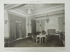 The Cafe, New Lotus Club, New York, New York, 1909, Lithograph. Mr. Donn Barber.