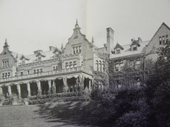 """Ventfort Hall"", Lenox, MA,1902, Lithograph. Rotch & Tilden"