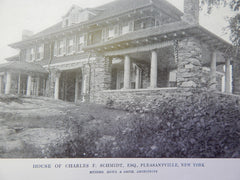 House of Charles F. Schmidt, Esq., Pleasantville, NY, 1914. Rowe & Smith.