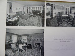 House of Dr. G.A. Stickney,Interior, Beverly, MA, 1918, Lithograph. Alden.