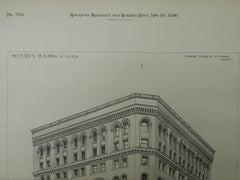 Security Building, St. Louis, MO, 1890, Original Plan. Peabody, Stearns & Furber.