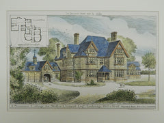 Cottage for Walter Clement, Turnbridge, Kent, England, 1884, Original Plan. Reginald Pope.