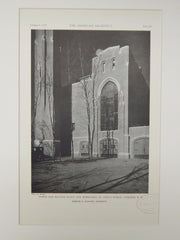 Power, Heating Plant & Workshops, St Paul's School, Concord, NH, 1929,Lithograph. Charles Z. Klauder.