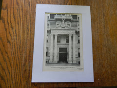 Main Entrance Apt. House, No.771 Madison Ave, New York, NY, 1901,Lithograph. Korn.