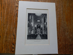 Copy of St. Joseph's Convent Chapel, Interior, Milwaukee,WI,  Lithograph. Brust & Phillip.