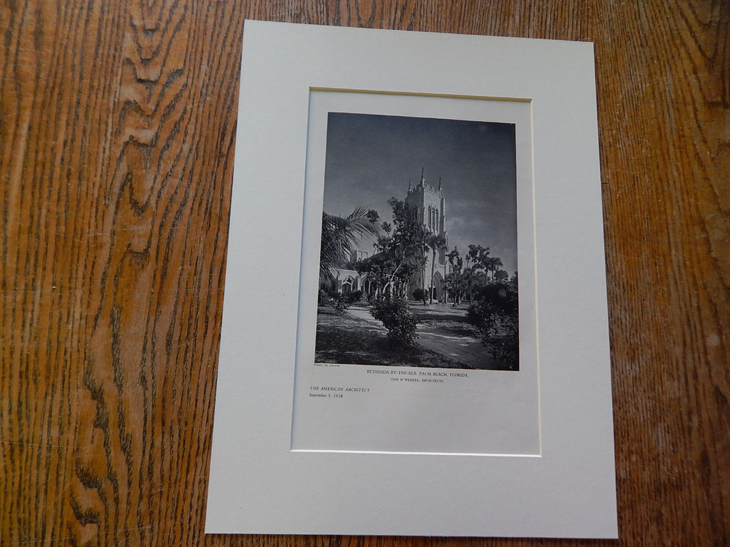 Bethesda-By-The-Sea, Palm Beach, FL, 1928,Lithograph. Hiss & Weeks.