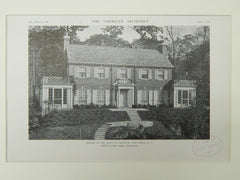 House of Mr. John W. Griffin, Fieldston, NY, 1921, Lithograph.  Dwight James Baum.