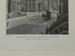 Perspective, Allerton House, East 39th Sreet, New York, NY, 1919, Lithograph. Arthur Loomis Harmon.