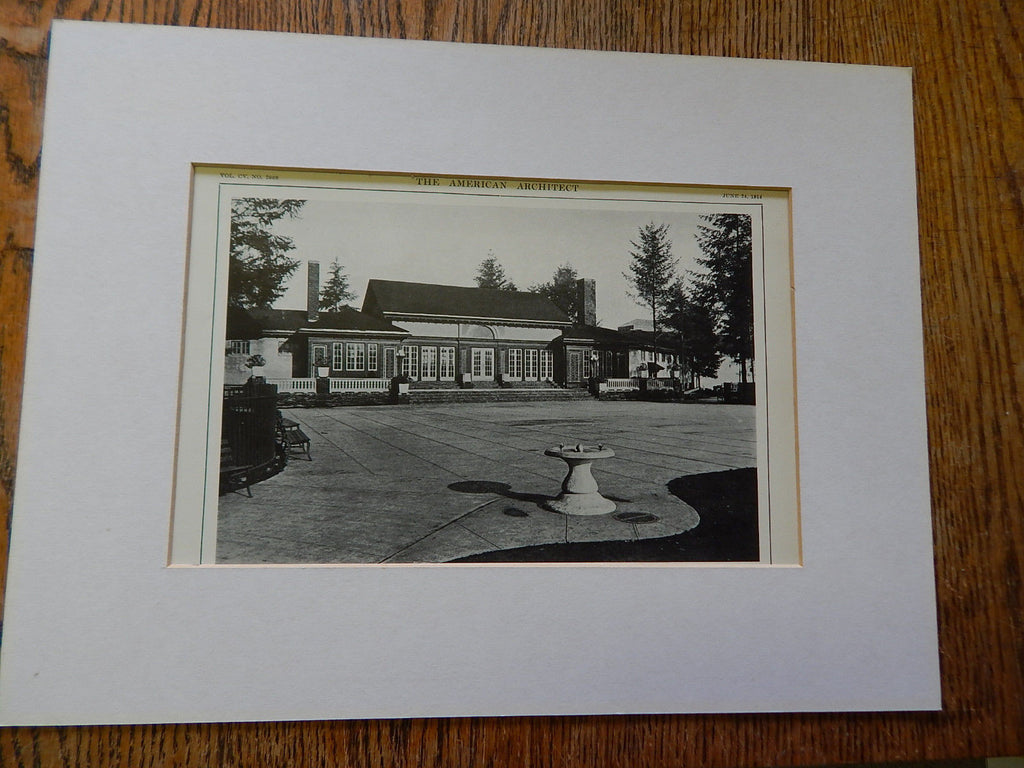 Public Recreation Bldg,Dept of Parks, Portland,Oregon, Lithograph,1914. Lawrence & Holford.