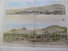 Competitive Design, U. S. Military Academy, West Point, NY 1903. Original Plan. Frost & Granger.