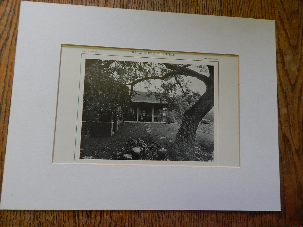 Bungalow of Mr. Julius Seyler,North, Pasadena,CA,Lithograph,1914. Elmer Grey.