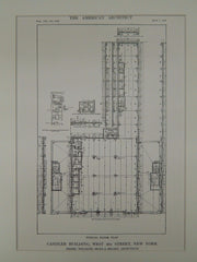 Typical Floor Plan, Candler Bldg, 42nd St., New York, NY, 1913, Original Plan. Willauer, Shape & Bready.