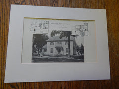 House of Mrs.Robert T.Searle, Randolph, NY, 1914. Lithograph. Averill & Adams.