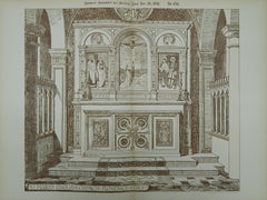 Chancel, St. Mark's English Church, Florence, Italy, 1891, Original Plan. Geo. H. Jeffrey.
