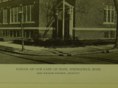School of Our Lady of Hope, Springfield, MA, 1919, Lithograph. Koch & Wagner.