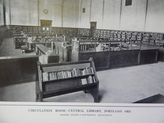 Circulation Room, Central Library, Portland, OR, 1914. Doyle & Patterson.