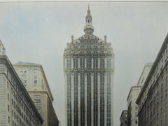 New York Central Building Tower, Park Avenue, New York, NY, 1929, Original Plan. Warren and Wetmore.