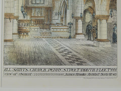 All Saints' Church, Perry Street, North Fleet, London, UK, 1874, Original Plan. James Brooks.